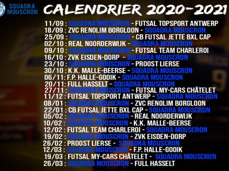 Le calendrier de la prochaine saison est sorti